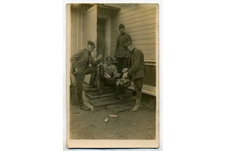 photography, Aizsargi, after fishing, Latvia, 20-30ties of 20th cent., 14x9 cm