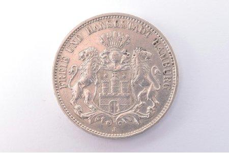 3 marks, 1912, J, silver, Germany, 16.62 g, Ø 33.3 mm, XF