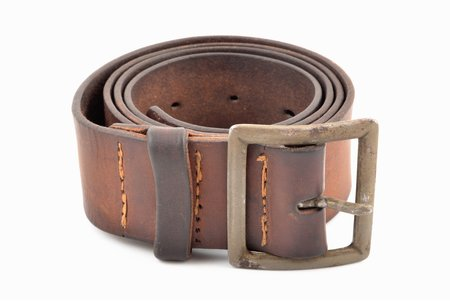 a belt, US Army, made for Soviet soldiers, World War II, lenghth 116 cm, manufactured by Frank Mashek & Co, USSR, USA, 1943