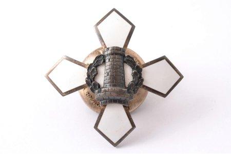 badge, Estonia, 20-30ies of 20th cent., 43.3 x 43.1 mm