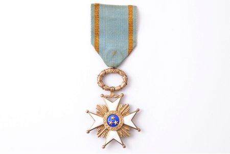 "the Order of Three Stars, 5th class, silver, enamel, 875 standart, Latvia, 20ies of 20th cent., ""Vilhelms Fridrichs Müller"" manufactory"