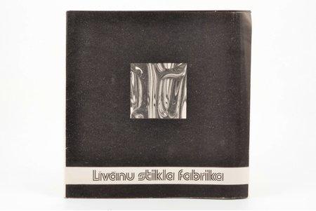 """""""Līvānu stikla fabrika"""", 30 sheets, in a folder, 20 x 20 cm"""