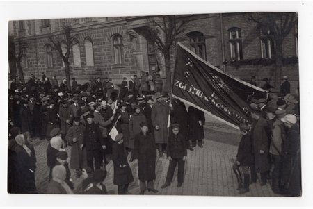 photography, Riga, 1st of May demonstration, Latvia, beginning of 20th cent., 13,6x8,5 cm