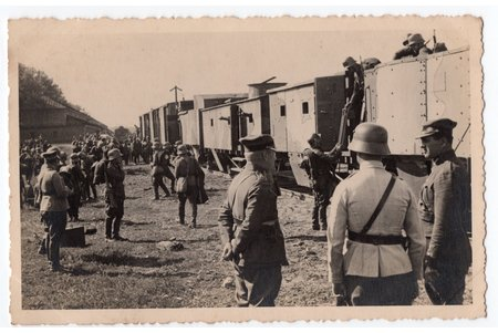 photography, Latvian Army, the Division of armored trains, Latvia, 20-30ties of 20th cent., 13,8x8,8 cm