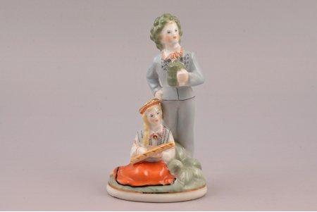 figurine, Līgo, porcelain, Riga (Latvia), USSR, Riga porcelain factory, molder - Ilga Vanaga, the 50-60ies of 20th cent., 13.2 cm, second grade