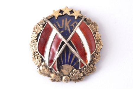 знак, LVKA, Объединение Латвийского Государственного флага, Латвия, 20е-30е годы 20го века, 33 x 31.7 мм