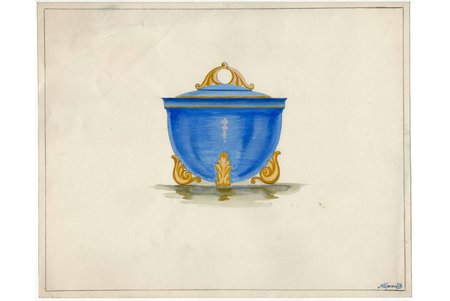 sketch, technical specifications, Rīga porcelain factory, Riga (Latvia), USSR, the 50ies of 20th cent., 28.6 x 36 cm, folder is not included in the lot