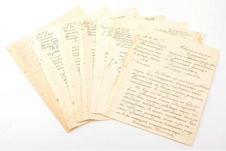 dokumentu komplekts, 7 lapas; Valmieras rajona tautskolu inspektora izdoti cirkulāri, Latvija, Krievijas impērija, 1904-1912 g.