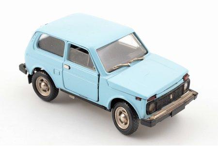 car model, VAZ 2121 Niva Nr. A20, trambler, mirrors, metal, USSR, 1983-1985