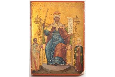 икона, Богоматерь Всех Скорбящих Радость, доска, живопись на золоте, Российская империя, начало 20-го века, 18.8 x 13.6 x 2.3 см