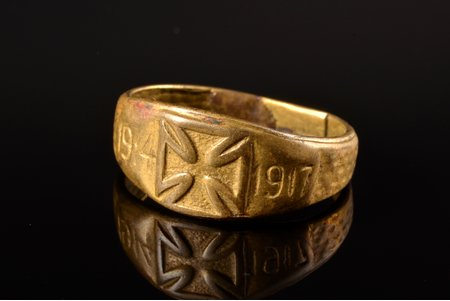 ring, 1914-1917, World War I, ring size 18.5, Germany, the beginning of the 20th cent.
