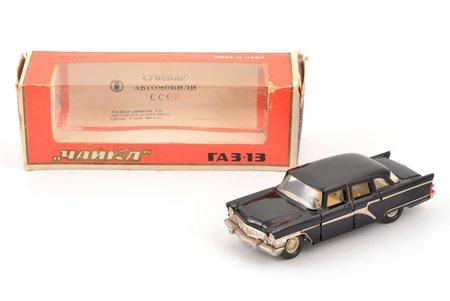 car model, GAZ 13 Chaika Nr. А15, carbon panel, metal, Russia, 1982