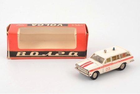"car model, GAZ 24 02 Volga Nr. А24, ""Ambulance"", ""Drib"", interior made of carbon, metal, USSR, 1980"