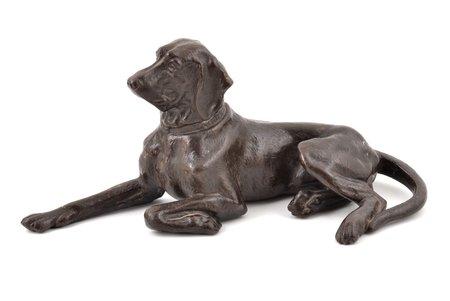 "figurine, ""Pointer dog"", cast iron, 9.3 x 22 x 9.9 cm, weight 802.50 g., Russia, Kasli, 1905"