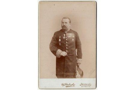fotogrāfija, virsnieks, uz kartona, Krievijas impērija, 20. gs. 20-30tie g., 16.2 x 10.5 cm