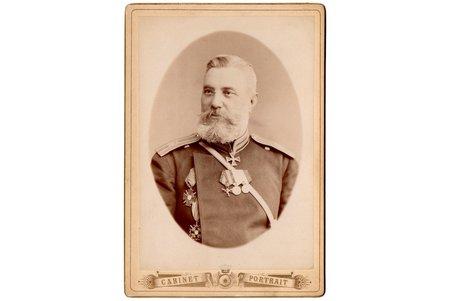 fotogrāfija, virsnieks, uz kartona, Krievijas impērija, 20. gs. sākums, 13.9 x 9.7 cm