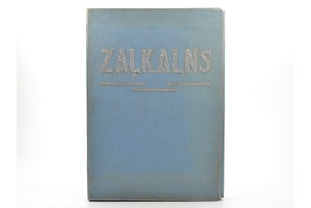 """""""Teodors Zaļkalns"""", 48 attēli (pilns komplekts), autora un Ed. Melbārda redakcijā, ar Valdemāra Damberga ievadu, 1943, Zelta ābele, Riga, 35 x 24.5 cm, in a hard cardboard folder, images on 48 sheets + description (7 pages)"""