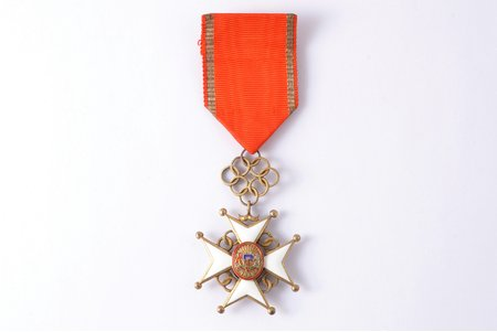 орден, Крест Признания, 5-я степень, серебро, эмаль, 875 проба, Латвия, 1938-1940 г.