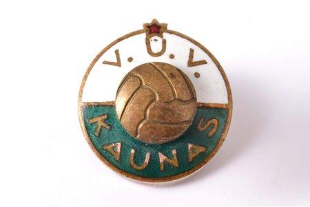 badge, V.U.V. Kaunas, sports, USSR, Lithuania, 15.1 x 14.1 mm
