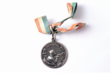 """жетон, охотничье общество """"Диана"""", IV приз, серебро, Латвия, Российская Империя, начало 20-го века, 28.8 x 25 мм, без клейм"""