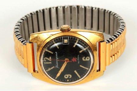 """rokas pulkstenis, """"Komandirskije"""", Čistopoļ, PSRS, 20gs. 60-70tie gadi, metāls, strādājoši"""