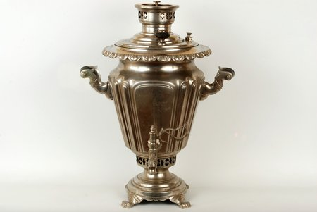 samovar, B.G.Teile manufactory, 47 cm, 6.2 kg, Russia, the beginning of the 20th cent.