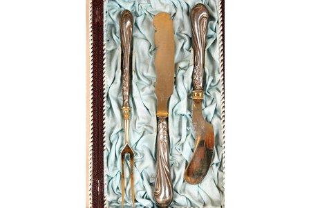 dakša, nazis, sudrabs, 84 prove, komplektā 3 priekšmeti, 20. gs. sākums, Maskava, Krievijas impērija
