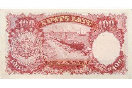 100 latu, 1939 g., Latvija, AA 000103