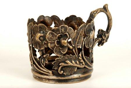 "tea glass-holder, ""Warszawa"", Schiffers & C0, Poland, the beginning of the 20th cent."