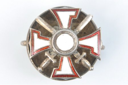 badge, tiny badge of the Military Order of Lachplesis, Latvia, 20-30ies of 20th cent., 18 x 18 mm