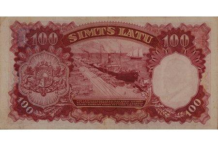 100 lats, 1939, Latvia
