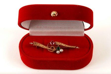 Санкт-Петербург, золото, 56 проба, 3 г., размер кольца 5 cm, 19-й век, Российская империя