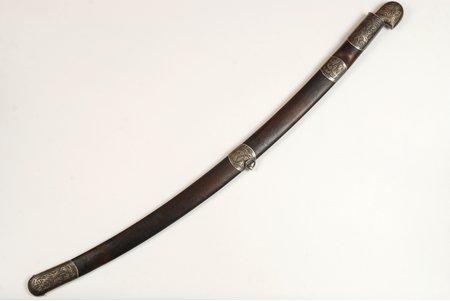 шашка, Зaпадная Грузия, Длина клинка от рукоятки ~78.5 см, серебро, Российская империя, начало 20-го века