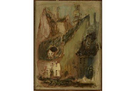 Rožlapa Dailis (1932-2015), Vēcrīga, 1982 g., kartons, eļļa, 40 x 30 cm