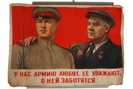 V.Pravdin, N.Denisov, 1948, poster, 100 x 72 cm