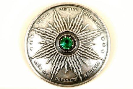 Sakta, metāls, 20 gs. 20-30tie gadi, Latvija, 6.2 cm