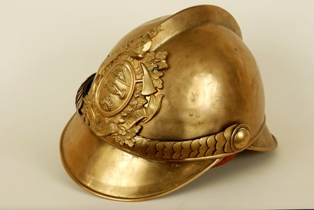 hard hat, Fireman, brass, Russia, the beginning of the 20th cent.