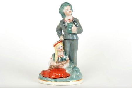 figurine, Ligo, porcelain, Riga (Latvia), Riga porcelain factory, the 60ies of 20th cent., 13.5 cm