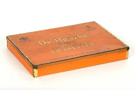 """box, """"De Reszke"""", metal, Great Britain, the 20-30ties of 20th cent."""
