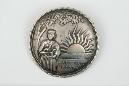 """Sakta """"Sun"""", silver, 875 standart, 8.5 g., the size of the ring 5, the 20-30ties of 20th cent., Latvia"""