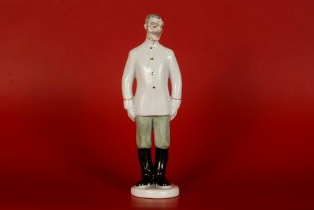 figurine, Corporal Prishibeyev, porcelain, USSR, LFZ - Lomonosov porcelain factory, molder - B.Y. Vorobyev, the 60ies of 20th cent., 17 cm, highest rate