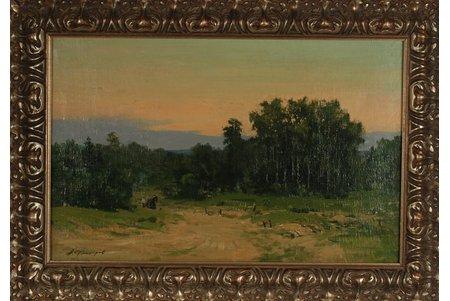 Fjodorovs Aleksejs (1924-1997), Ainava, kartons, eļļa, 39 x 41 cm