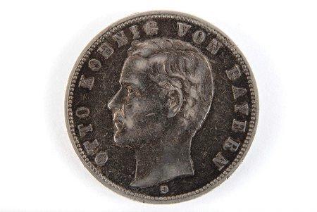 5 markas, 1904 g., D, Bavārija, Vācija, 27.7 g