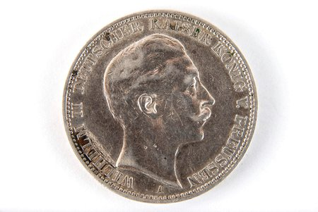 3 marks, 1909, A, Prussia, Germany, 16.6 g