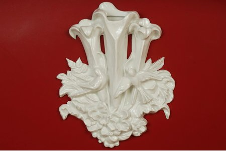 wall decoration, sculpture's work, Rīga porcelain factory, Riga (Latvia), USSR, the 50ies of 20th cent., 36 cm