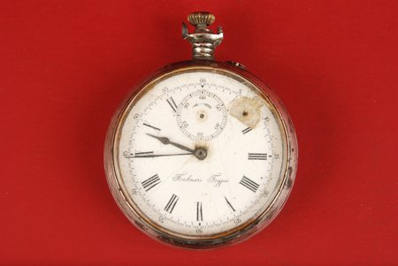 """kabatas pulkstenis, """"Paul Buhre"""", d=54 mm, Krievijas impērija, 20. gs. sākums, sudrabs, 84 prove, neejošie"""