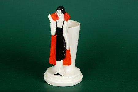 vase, Vase with a figure, c.Coburg, art-deco, Germany, 1930, 12 cm