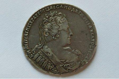 1 рубль, 1733 г., Российская империя, 25.3 г, д = 42 мм