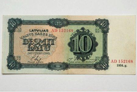 10 lati, 1934 g., Latvija