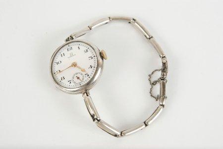 """kabatas pulkstenis, """"Omega"""", sieviešu aproce, PSRS, 20 gs. 20-30tie gadi, sudrabs, strādājoši"""